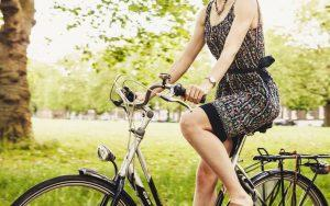 eye health eye exam woman riding bike